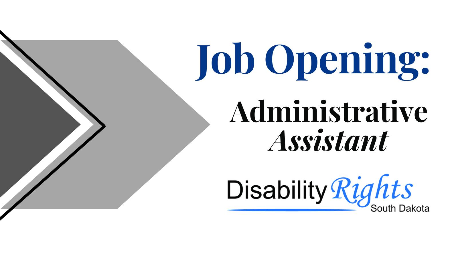 DRSD Job Opening for Administrative Assistant